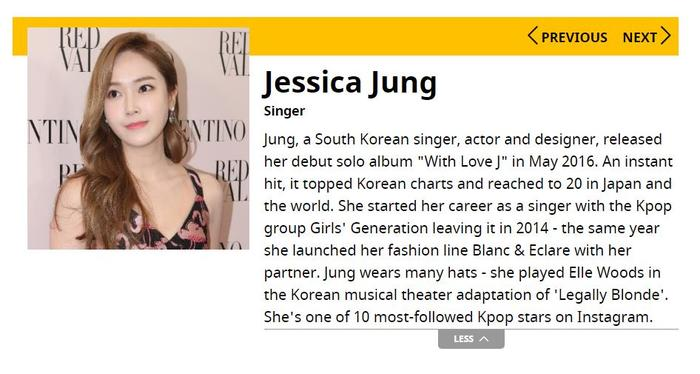 Jessica Jung Forbes 30 Under 30