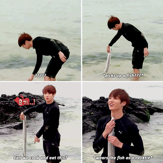 BTS Jungkook fishing