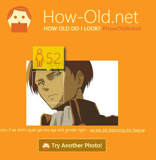 How-Old.net Attack on Titan