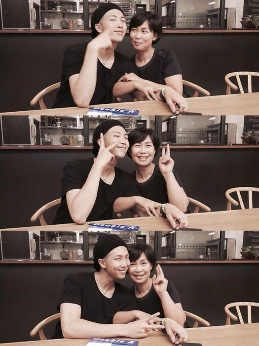 Rap Monster and his mum