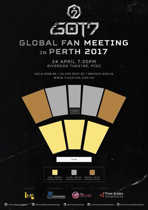 GOT7 perth seating details