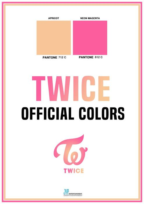 TWICE Official Colours