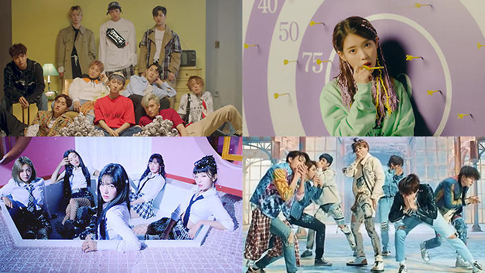 BTS, Red Velvet, PENTAGON & IU included in Billboard's Top
