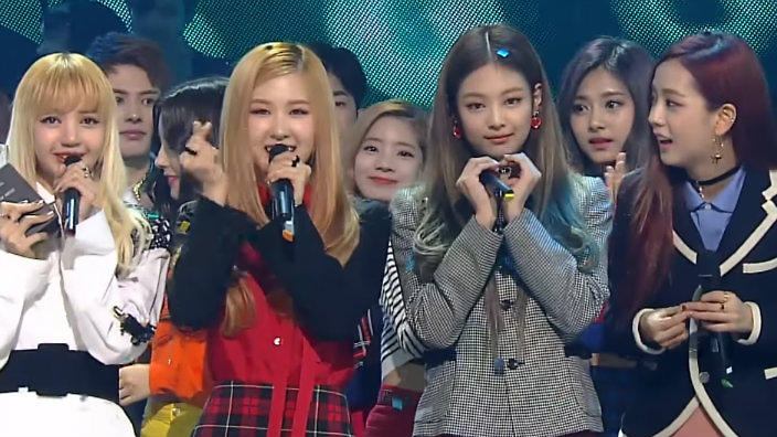 Black Pink take 1st win for 'Playing With Fire