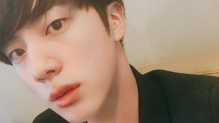 so handsome bts jin and his good looks went viral again sbs