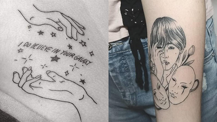12 Seriously Beautiful Bts Fan Tattoos Sbs Popasia