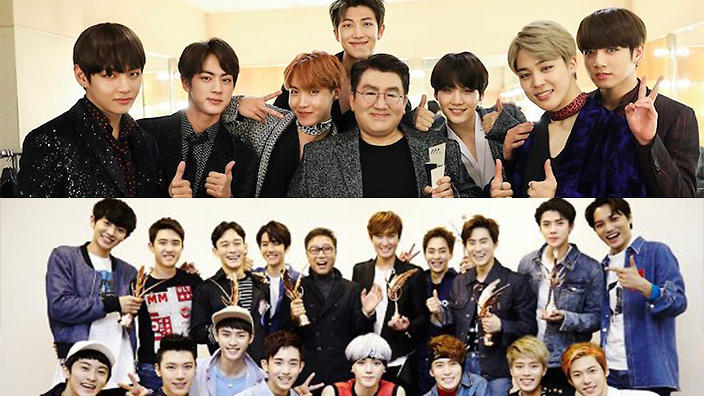 Which of the big 3 entertainment agencies tops physical