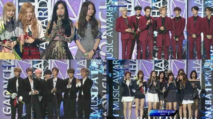 EXO, Black Pink, BTS, TWICE and more win big at the 6th Gaon Chart