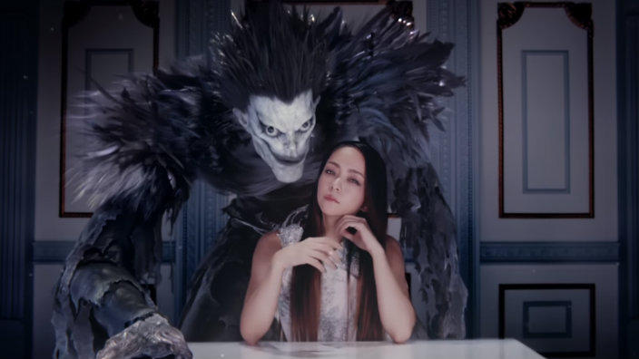 Video Namie Amuro Gets Close To Death Note S Ryuk In New