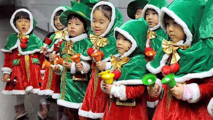 south korea christmas children - What Countries Celebrate Christmas