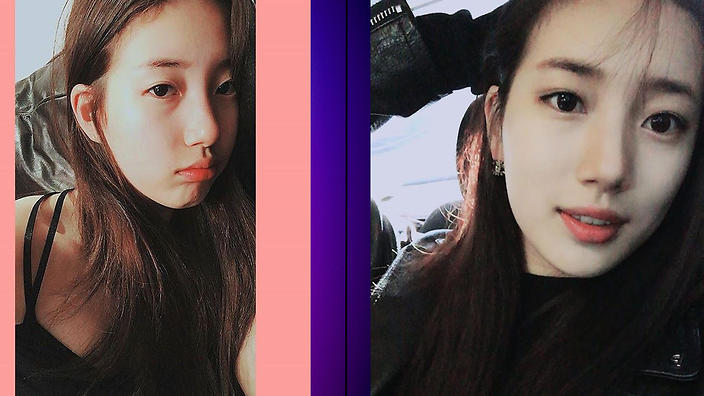 8 Female Idols With Vs Without Makeup Sbs Popasia