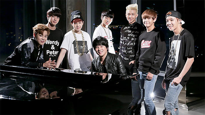 Thanh Bui with BTS boy band
