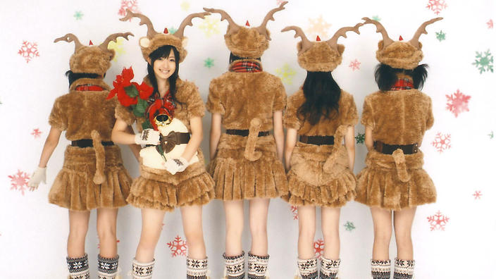 Hello Project in reindeer outfits