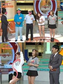 SECRETs Hana and Hyosung on Quiz Show Four Musketeers