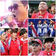 World cup idols and fans PSY