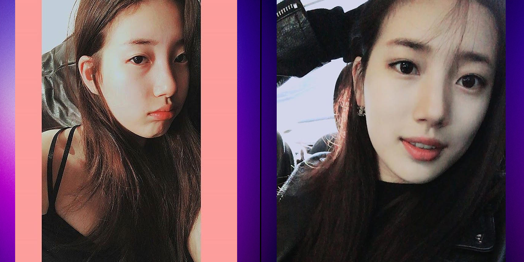 8 female idols with vs  without makeup