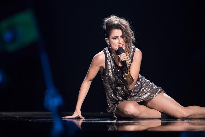 Spain's Barei performs during the Eurovision 2016 Grand Final (Photo by Rolf Klatt for SBS)