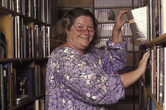 Portraits Of Colleen McCullough At Home