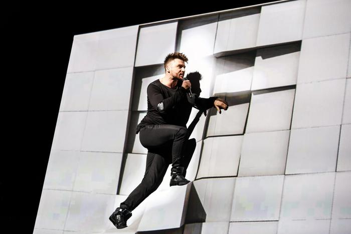 Sergey Lazarev at day one of rehearsals for Eurovision 2016