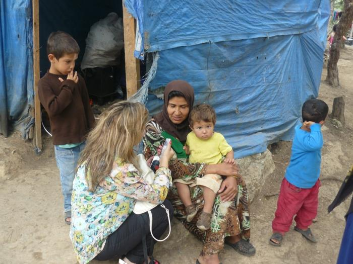 Syrian refugees in Lebanon camp