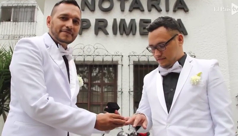 First gay couple marries in Colombia The first same-sex couples have begun  marrying in Colombia since the Latin American nation changed its marriage  ...