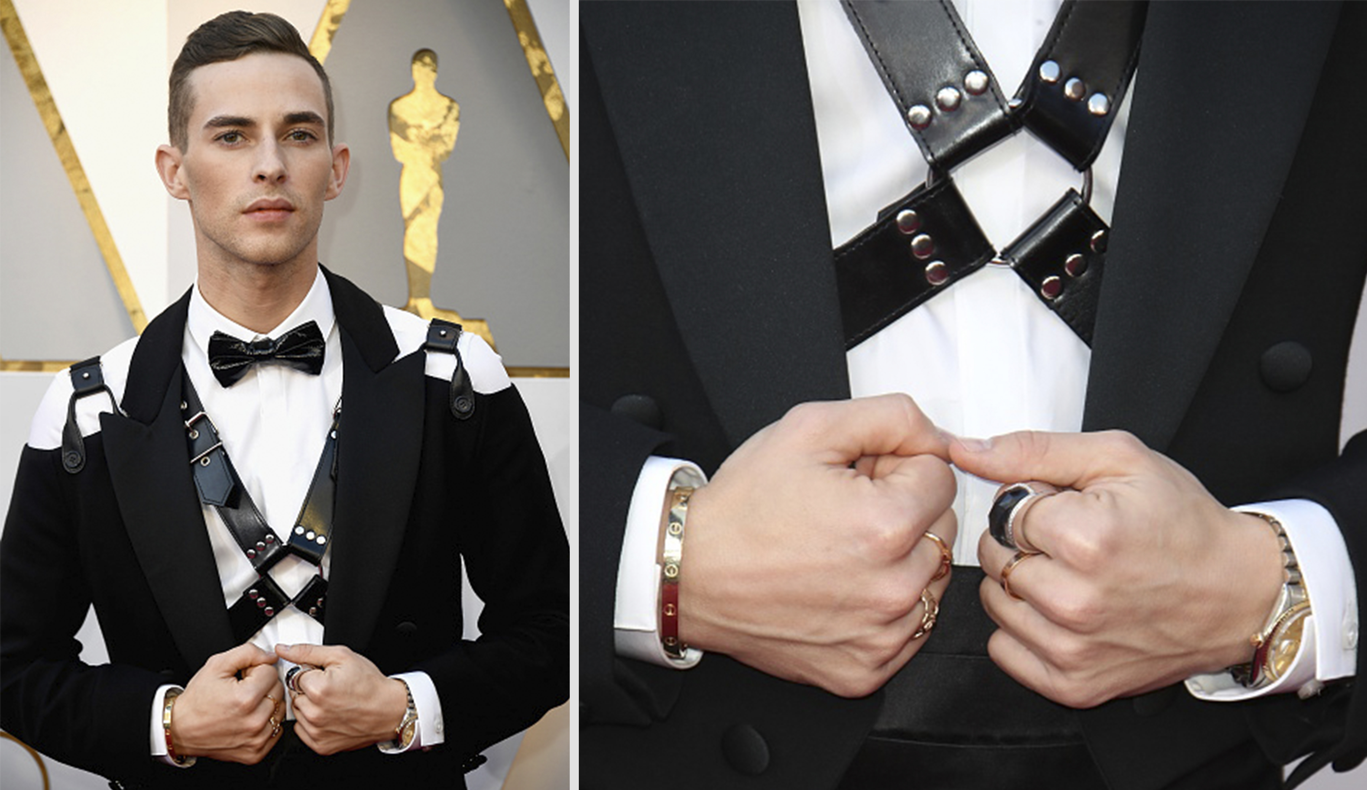 Figure skater Adam Rippon wins the Oscars with studded leather ...