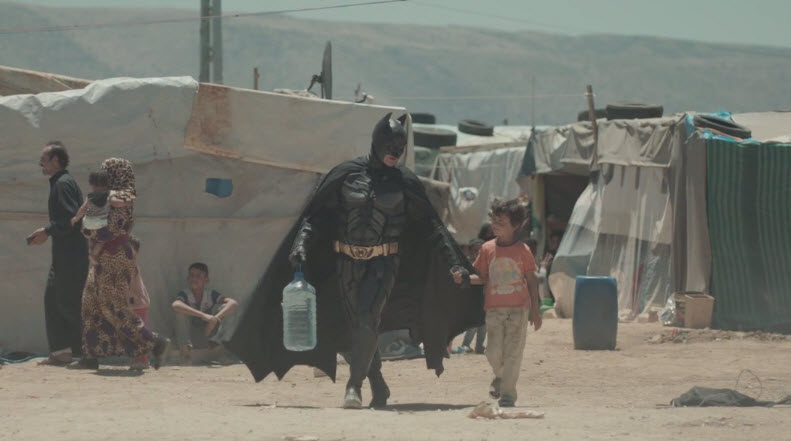 Batman Visits A Syrian Refugee Camp In This Moving Video