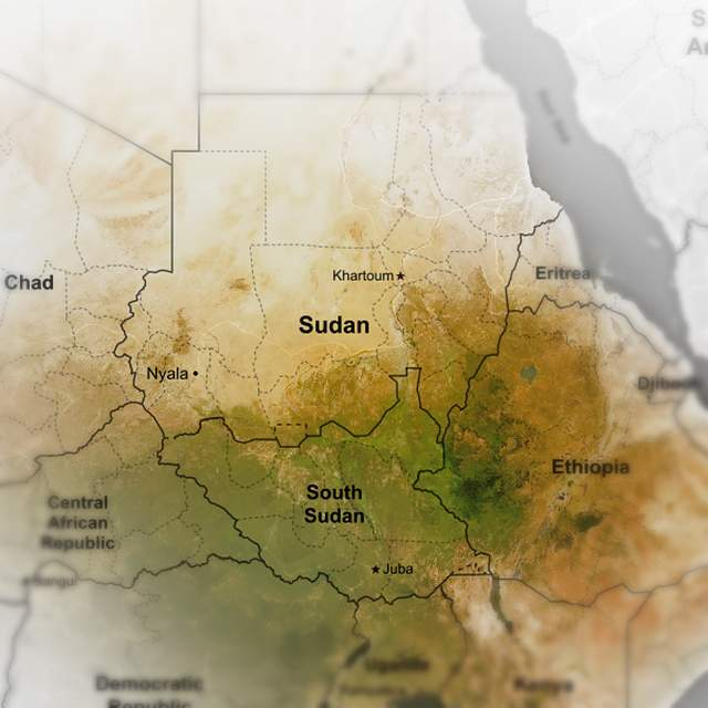 Current Sudanese borders