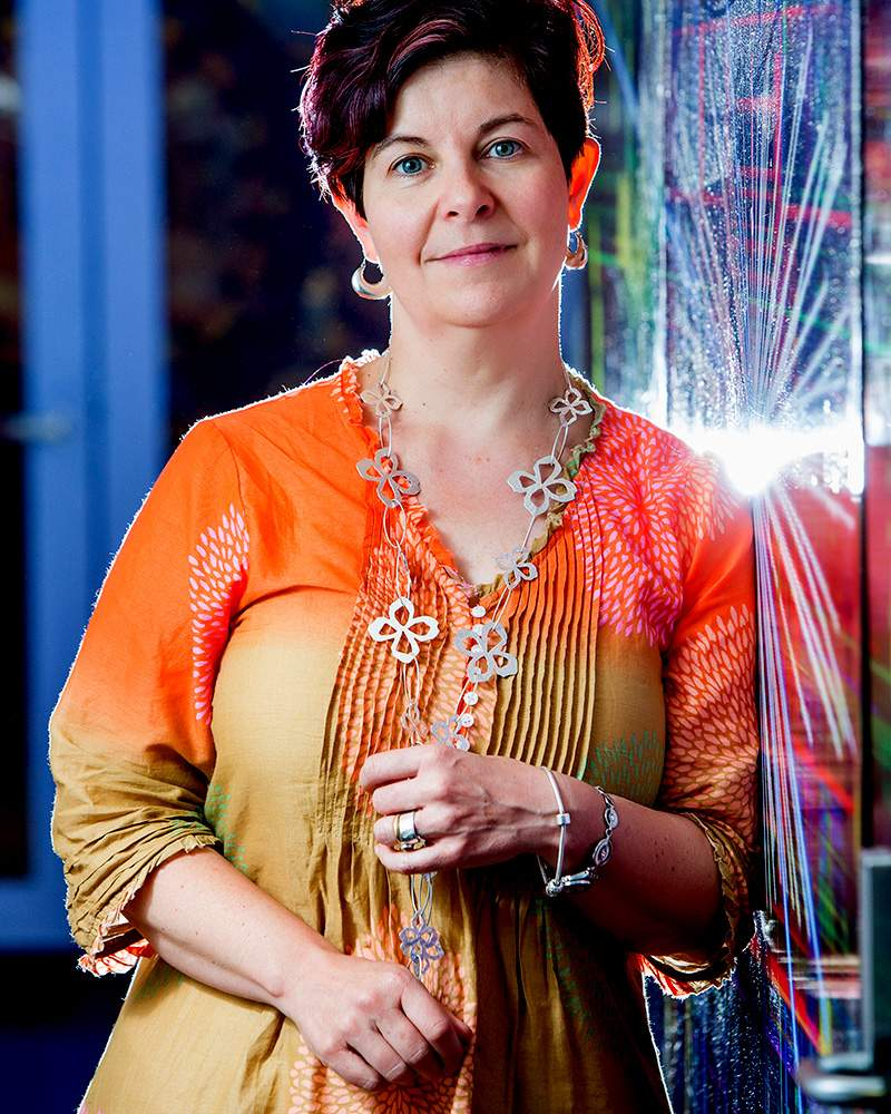 University of Melbourne particle physicist, Professor Elisabetta Barberio.Photo: Peter Casamento