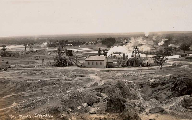 The Mines, Stawell, ca.1912. (State Library Victoria)