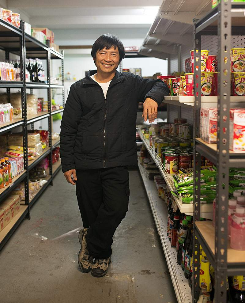 Kaw Doh Htoo in his Nhill grocery store.