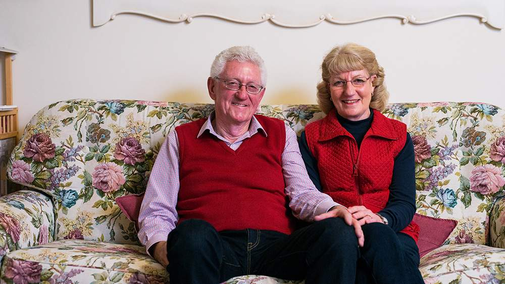 Finding meaningful work for refugees: John and Margaret Millington.