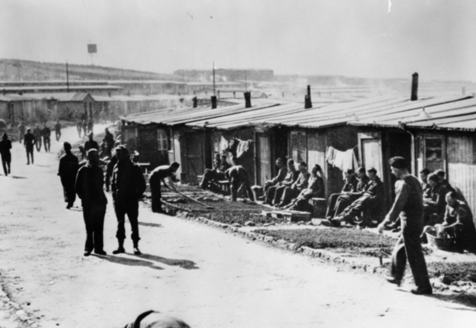 'ANZAC Avenue' in Stalag 383 (Australian War Memorial)