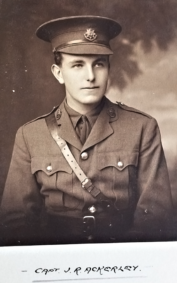 J.R. Ackerley was an openly gay war hero from World War One (By permission of Surrey History Centre, SHC ref ESR\/18\/2\/2 p.6)