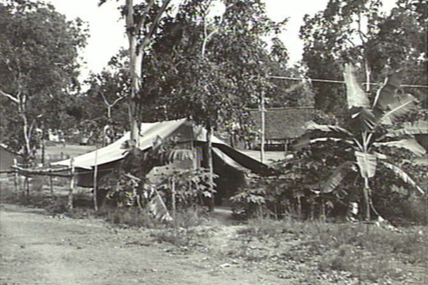 Officers tents at New Guinea Force Headquarters, Port Moresby (Australian War Memorial)