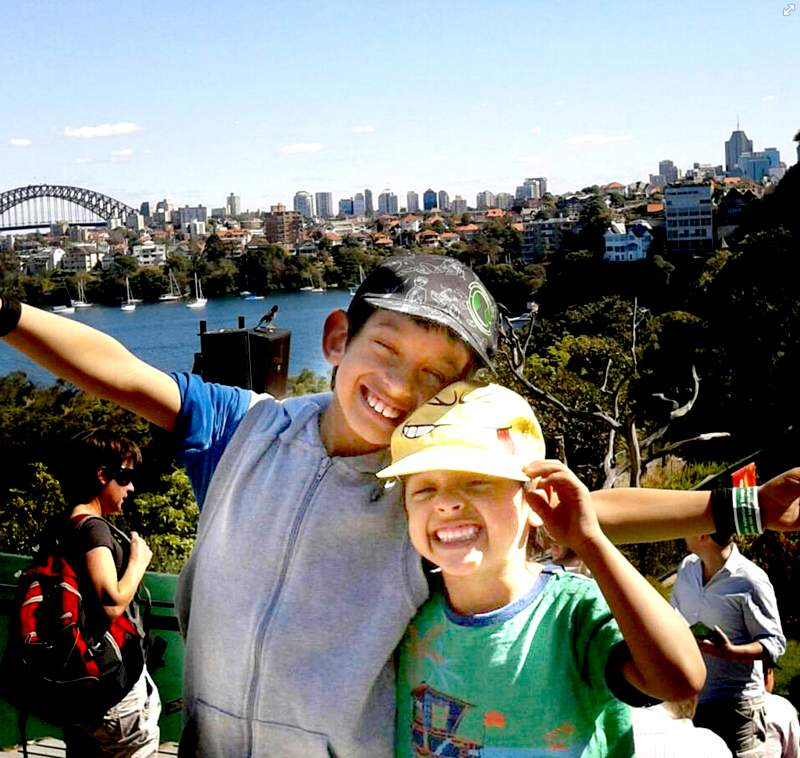 Liam (left) and Benjamin Milne sightseeing a few months before the crash (Photo: Facebook).