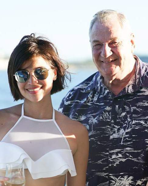 Anne Curtis with her father James Curtis-Smith (Photo: Instagram).