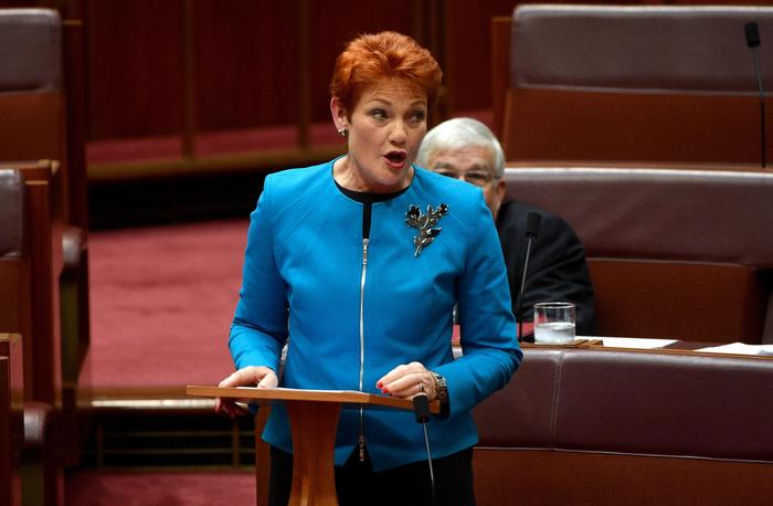 Senator Pauline Hanson is among those reviving the debate around the abolition of 18C. (AAP)