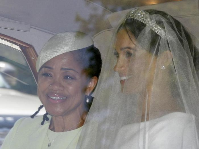Meghan Markle with her mother Doria Ragland in the car.