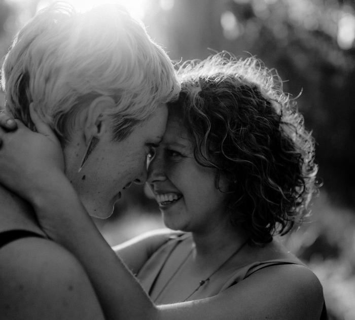 Kelly (L) and Kirsty's (R) engagement. (Supplied, photography by Fern & Stone.)