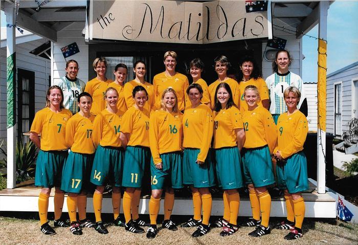 McShea and the Matildas in 2000