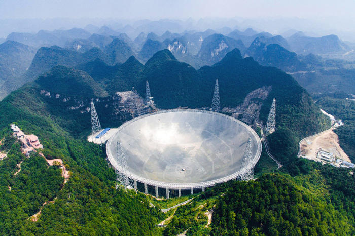FAST telescope in china complete