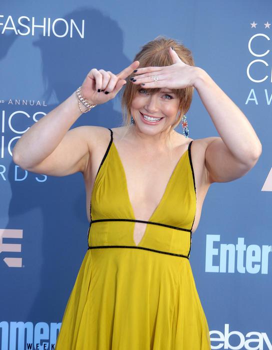 Jurassic World actor Bryce Dallas Howard was praised for wearing this yellow $322 Topshop dress at Critics' Choice awards.