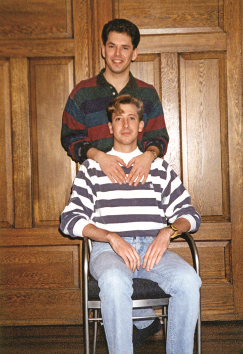 Jim and John in 1993. Jim moved in with John just weeks after they met for the thirdt time.