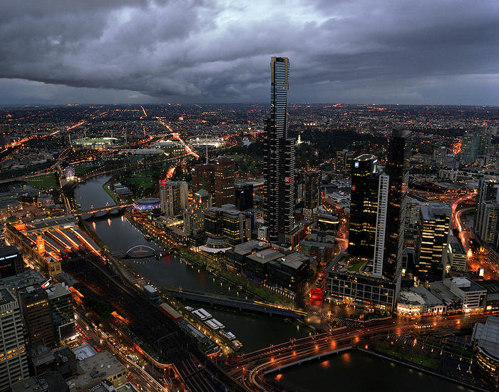 Melbourne during Thunderstorm