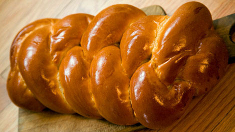 Challah bread, a traditional Jewish dietary staple.