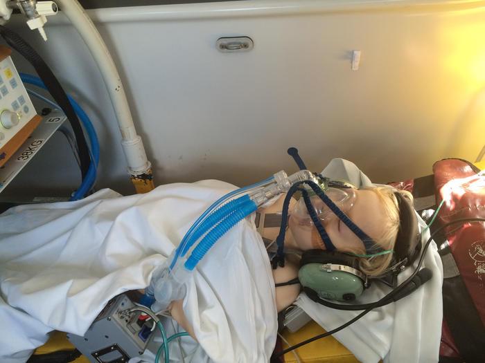 boy in ambulance