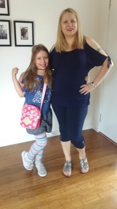 Amra and her daughter