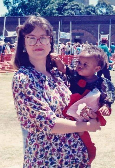 Amy Iheakanwa and mother