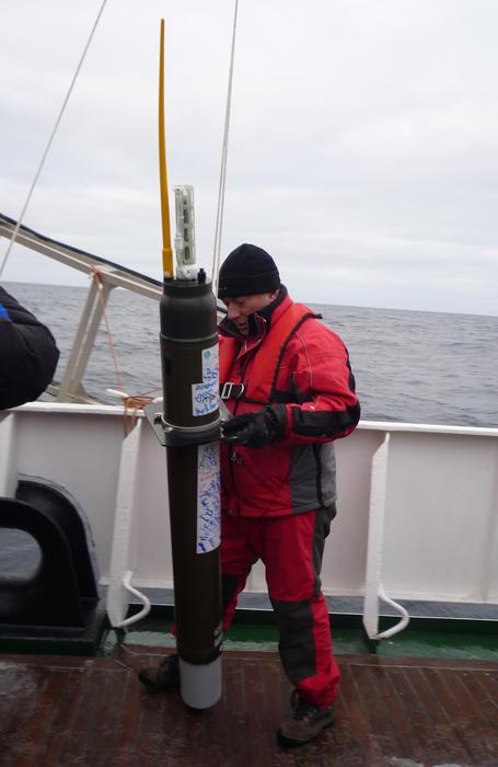 preparing to launch an argo float